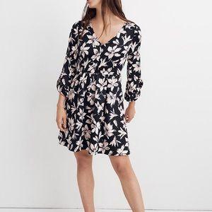 Madewell Moonblossom Ruffle-Sleeve Dress